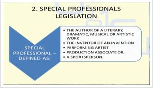 Special Professionals Legislation