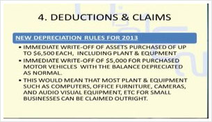 Tax Deductions and Claims